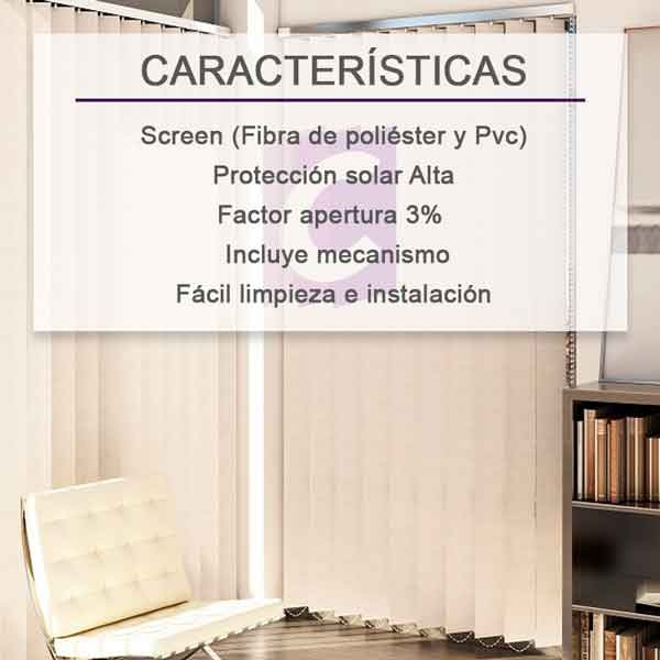 Cortinas Verticales Screen Pe-2000