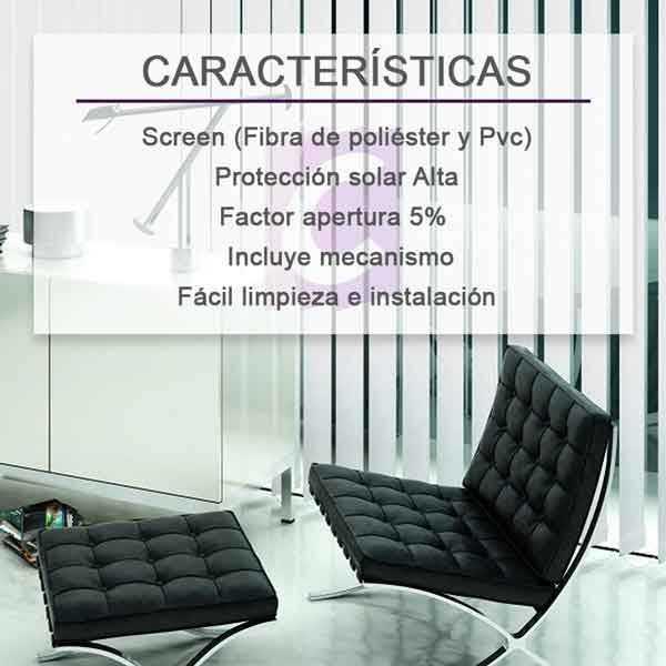 Cortinas Verticales Screen Basenji