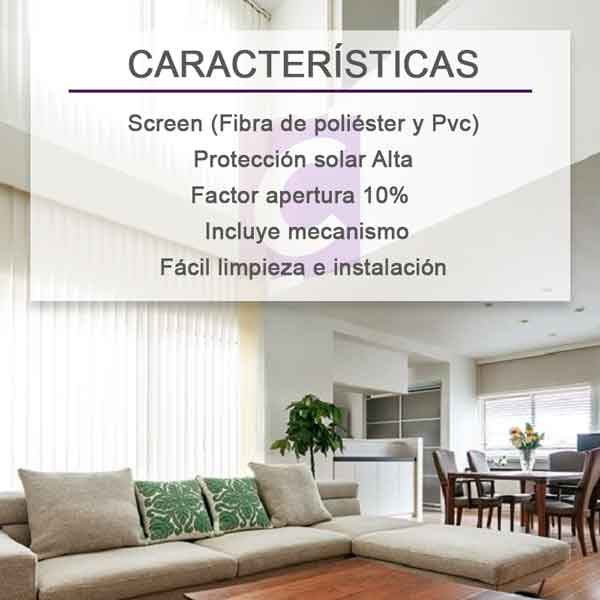 Cortinas Verticales Screen Pe-10