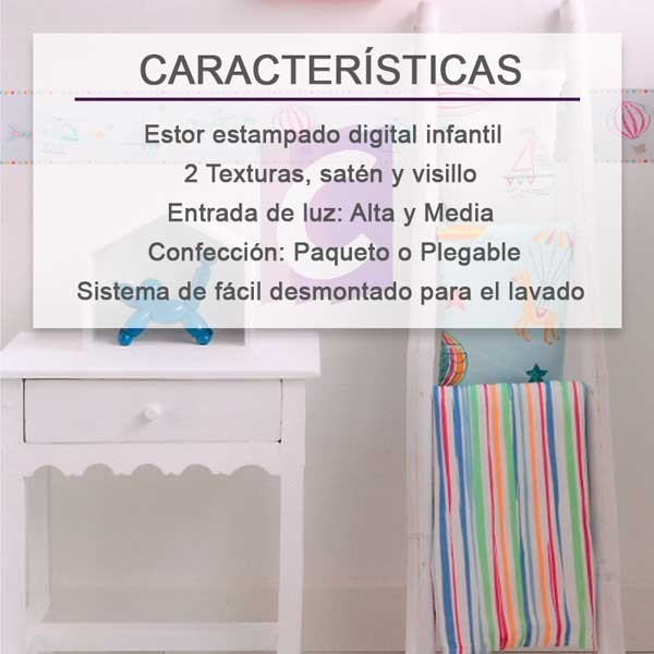 Estores infantiles Travel
